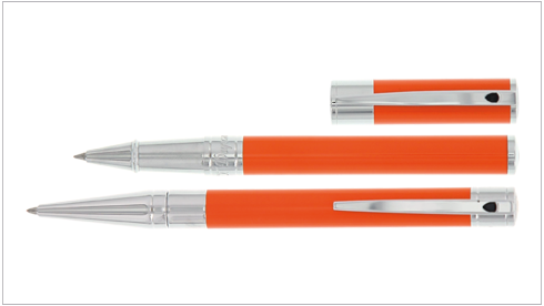S.T. Dupont - D-Initial Orange finition Chrome